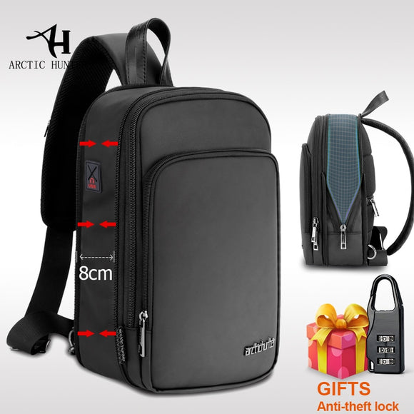 2020 New Multifunction Crossbody Bag for Men Anti-theft Shoulder Messenger Bags Male Waterproof Short Trip Expansion Chest Bag