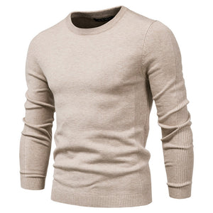 2020 New Winter Thickness Pullover Men O-neck Solid Color Long Sleeve Warm Slim Sweaters Men Men's Sweater Pull Male Clothing  MartLion