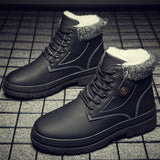2020 Winter Men Boots New Men Casual High To Help Ankle Boots Cotton Shoes Shoes Men Waterproof Non-slip Warm Outdoor Snow Boots  MartLion