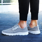 2020 summer new men's casual shoes woman lightweight large size outdoor sports running shoes couple shoes mesh 48 yards 47 gray  MartLion
