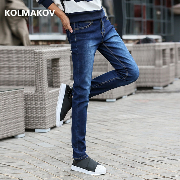 spring arrival jeans high quality casual slim elastic jeans men ,skinny jeans men ,men's pencil pants ,size 27-36