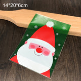 20Pcs/lot Merry Christmas Santa Claus Candy Gift Bags New Year Christmas Party Decoration Kids Gift Cookies Candy Packaging Bags  MartLion