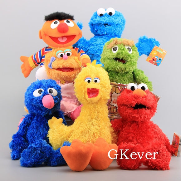 21-35cm Sesame Street hand puppet Cartoon Anime Elmo Oscar Cookie Big Bird plush toys puppet Baby Kids Birthday Gift  MartLion