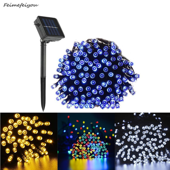 22 M 200LED Solar Fairy Lights String Waterproof Solar Power Light Outdoor Garden LED Holiday Decoration  MartLion