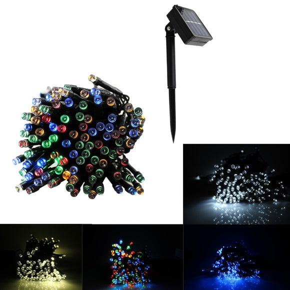 22M 200 LED String Fairy Lights Outdoor Christmas Waterproof Solar Powered Strip Light Outdoor Lighting for Garden Wedding Lamp  MartLion.com