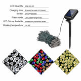 22M Christmas Lights Outdoor Solar Powered Garland Fairy Light for Street Backyard Decor Party 200/100 Led Chain Lighting String  MartLion