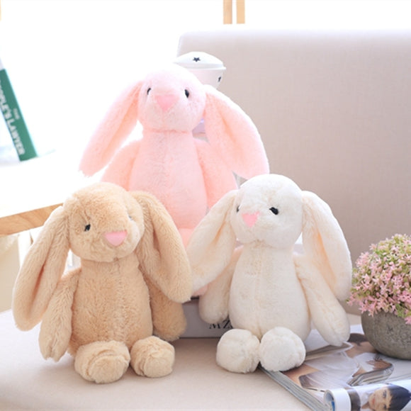 25cm Big Long Ears Rabbit Plush Toys Stuffed Rabbit Soft Toys Baby Kids Sleeping Toys Birthday Gifts for Girl Keychain  MartLion