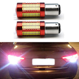 2PCs Super Bright White BAY15D Ba15s 1156 1157 S25 106smd 4014 Led P21W 30W LED SMD Backup Reverse Led Light Brake Light  MartLion
