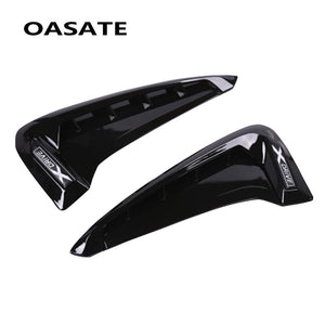 2Pcs/set ABS Car Front Fender Side Air Vent Cover Trim Car-styling For BMW X Series X5 F15 X5M F85 Shark Gills Side Vent Sticker  MartLion
