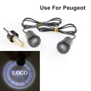2X Car 4th logo projector ghost shadow for Peugeot  LED Car Door Courtesy Logo Laser  MartLion