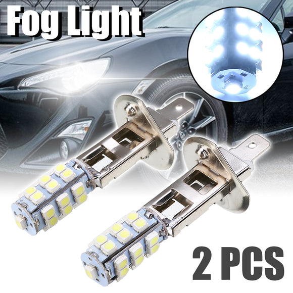 2pcs H1 25 SMD LED Car Fog Driving Light Headlight Car Replacement Bulb Super Bright White Fog Lights  MartLion