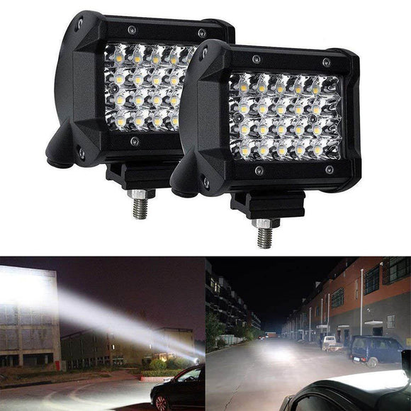 2pcs Waterproof 4 inch 72W LED Work Light Bar LED Light Bars Spot Flood Beam for Car Offroad Tractor Truck Lamp Boat  MartLion