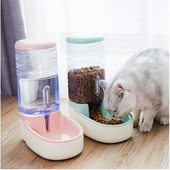 3.8L Dog Automatic pet feeders plastic water bottle for cat bowl feeding and drinking dog water dispenser for cats feeding bowls  MartLion