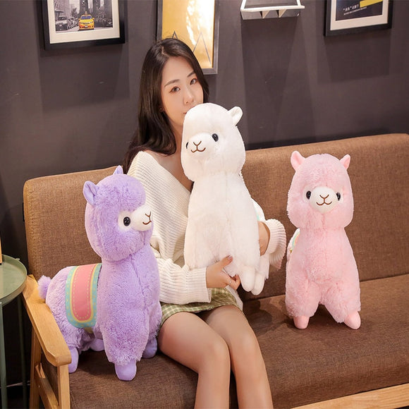 35/50CM super soft body alpaca doll stuffed animal plush toy cute alpaca pillow boy to send girl's birthday gift  MartLion