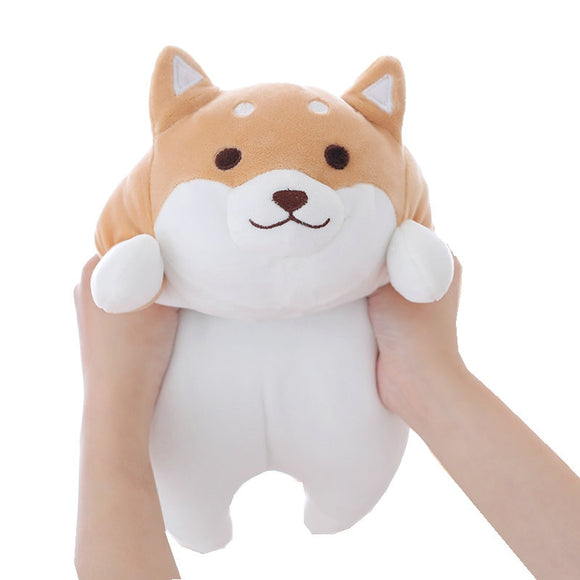 35cm Cute Fat Shiba Inu Dog Plush Toy Stuffed Soft Kawaii Animal Cartoon Pillow Lovely Gift for Kids Baby Children Good Quality