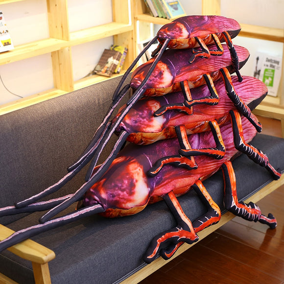 3D Simulation Cockroach Plush Toy Weird Birthday Gift Stuffed Funny Insect Doll Tricky Prank Toys Creative Soft Pillow Cushion