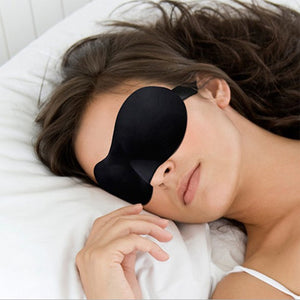 3D Ultra-soft Breathable Fabric Eyeshade Sleeping Eye Mask Portable Travel Sleep Rest Eye Cover Aid Dazzling  MartLion