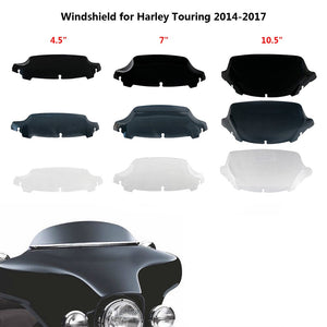 "4.5"" 7"" 10.5"" Wave Windshield Upper Fairing Windscreen for Harley Touring Street Glide Ultra Classic Electra 2014 2015 2016 2017  MartLion"