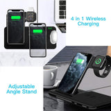 4 in 1 Qi Wireless Charger Dock Station For iPhone 12 11 XS XR X 8 15W Fast Charging Stand For Apple Watch 6 5 4 3 2 Airpods Pro  MartLion