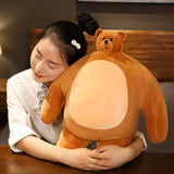 47cm Tiny Headed Kingdom bear stuffed animals plush Toy high quality soft muscle teddy bear plushie gifts for kids birthday Xmas  MartLion