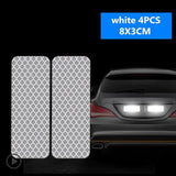 4pcs Fluorescent Car Reflective Strips Warning Stickers For Ford Focus 2 1 Fiesta Mondeo 4 3 Transit Fusion Kuga Ranger Mustang  MartLion