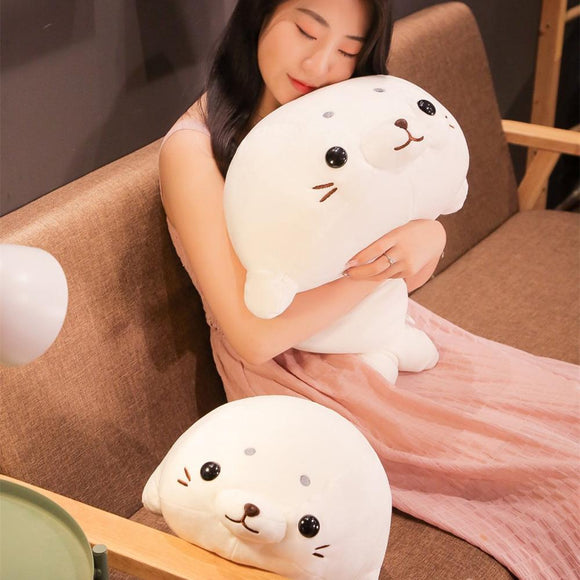 50/60cm Soft Down Cotton Lying Seal Plush Toys Lovely Stuffed Animal Doll Kawaii Pillow Home Decor Brinquedos Gift for Kids  MartLion