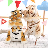 50 CM Mother and Son Tiger Plush Toys Stuffed Animal Plush Doll Simulation Child Kid Tiger Toys Lifelike Tiger Real Life Plush  MartLion