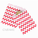 50pcs/ Lot treat candy bag high quality Party Favor Paper Bags Chevron Polka Dot Stripe Printed Paper craft Bags Bakery Bags  MartLion