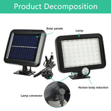 56 LED Outdoor Solar Wall Light PIR Motion Sensor Solar Lamp Waterproof Infrared Sensor Garden Light  MartLion