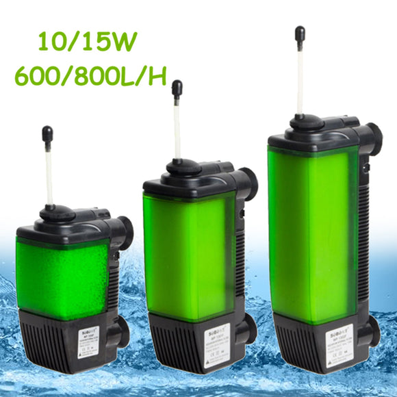 600/800L/H Aquarium Internal Water Filter Fish Tank Submersible Oxygen Pump Aquatic Pet Cage House Filters Accessories 10/15W - Mart Lion  Best shopping website