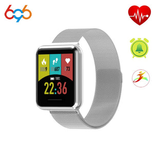 696 H808 Smart Bracelet Heart Rate Fitness Sleep Tracker Metal Case Multiple Straps Android IOS Fashion Watch  MartLion.com