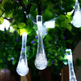6M 30LED Solar Bulb Light String Droplet Bulbs Fairy String Light For Outdoor Garden Lawn Solar Lights  MartLion