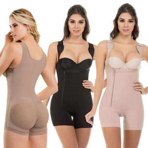 6XL Plus Size Latex Women's Body Shapers Post Liposuction Girdle Clip and Zip Bodysuit Vest Waist Shaper Shapewear High Quality  MartLion