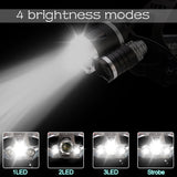 70000Lumens LED Headlight headlamp 5 LED T6 Head Lamp Power Flashlight Torch head light 18650 battery Best For Camping, fishing  MartLion