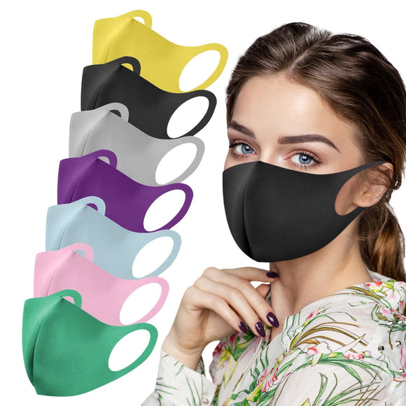 7pc Adult Mouth Caps Washable Protective Mask For Face Women Solid Color Mouth Masks Fabric Mondmasker Mascherine Mascarillas
