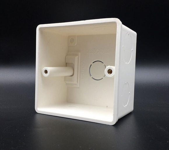 86*86mm Cassette Universal White Wall Mounting Box for Wall Switch and Plastic Enclosure Socket Back Box Outlet 86mm  MartLion