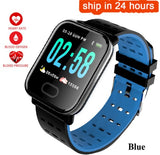 A6 Smart watch Heart Rate Monitor Blood Pressure Measure Sport Waterproof SmartWatch Wrist Fitness Tracker for Android IOS pk q8  MartLion
