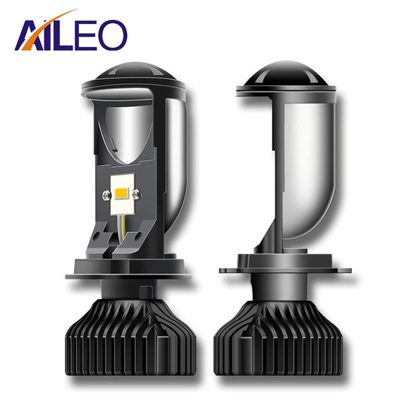 AILEO Canbus 90W/Pair Lamp H4 LED Mini Projector Lens Automobles Bulb 20000LM Conversion Kit Hi/Lo Beam Headlight 12V24V RHD LHD  MartLion