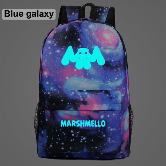 AL1002 Luminous KEEP IT MELLO Smiling face Children Boy Girl School bag Teenagers Student Schoolbags Women Packsack Men Backpack