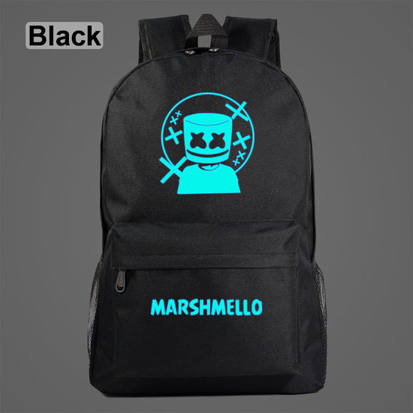 AL1005 Luminous Cartoon Music DJ HIPHOP Children Boy Girl School bag Teenagers Student Schoolbags Women Packsack Men Backpack
