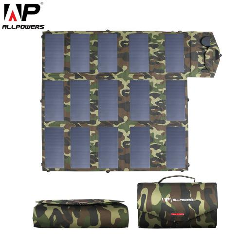 ALLPOWERS 18V100W Camouflage Color Portable Solar Charger Foldable Solar Panel for Outdoors Laptop Mobile Phone - Mart Lion