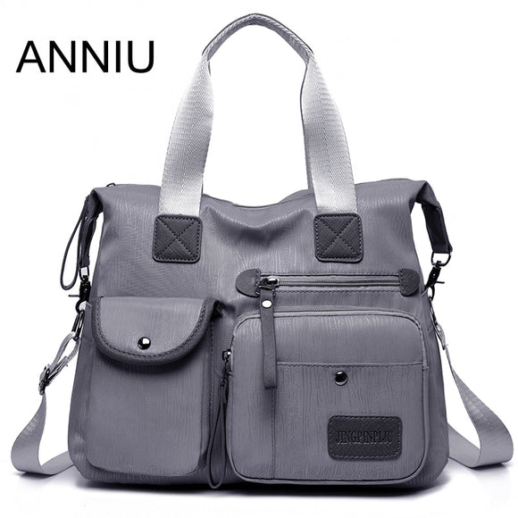 ANNIU New Large capacity Women bag Multi-pocket brushed pattern Female Shoulder bag High density oxford waterproof crossbody bag - Mart Lion  Best shopping website