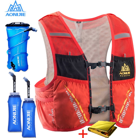 AONIJIE 5L Trail Hydration Vest Backpack Hiking Cycling Camping Marathon Rucksack Bag Running Bag
