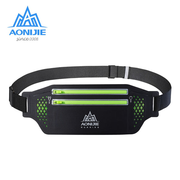 AONIJIE W946 Adjustable Slim Running Waist Belt Jogging Bag Fanny Pack Travel Marathon Gym Workout Fitness 6.9 in Phone Holde