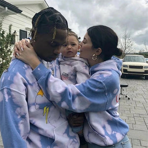 ASTROWORLD Hoodie Tie Dyeing Travis Scott Tour Astronaut Logo ASTROWORLD Hoodies   2019 Men Women Pullover Sweatshirts  MartLion