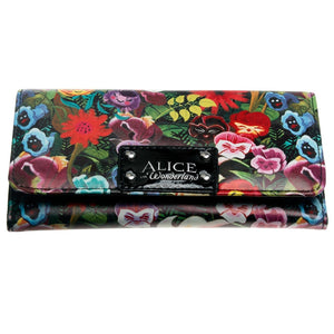 Alice Wallet Female PU Leather Wallet Leisure Purse Colorful Style 3Fold Flowers Printing Women Wallets Long Coin Purse DFT-1906  MartLion
