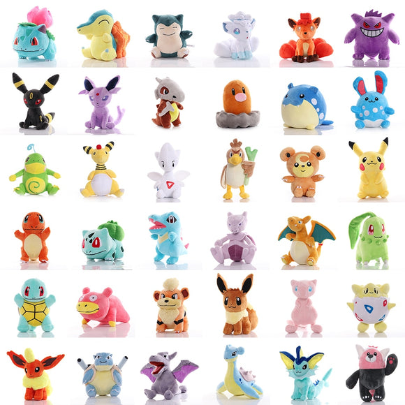 Anime pokemoned pikachued Bulbasaur Lapras Charmander Psyduck  Squirtle Plush Toy Stuffed doll Christmas Gift For kid