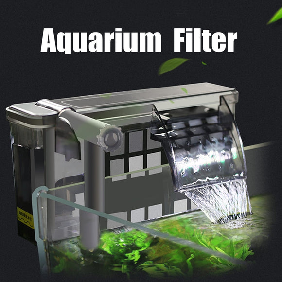 Aquarium External Hanging Filter Fish Tank Water Oxygen Pump Skimmer Filters Accessories 500/750 L/H Aquatic Pet Supplies - Mart Lion  Best shopping website