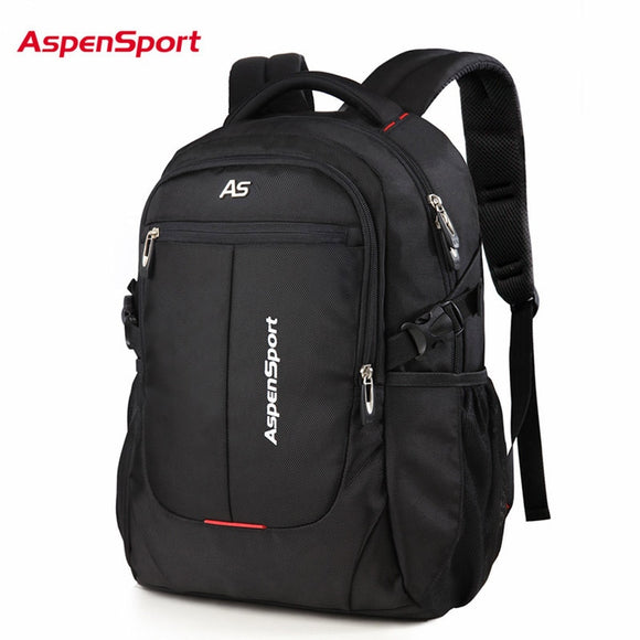 AspenSport Men Travel Bags Laptop Backpacks Fit under 16 Inch Computer Business Water Resistant College  School Bag Black - Mart Lion  Best shopping website