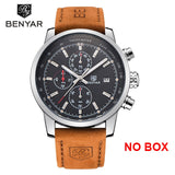 BENYAR New Watch Men Military Luxury Top Brand Quartz Business Men's Watches Fashion Chronograph Leather Clock Relogio Masculino  MartLion.com